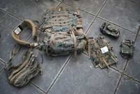 Genuine USMC ILBE MARPAT Molle Rucksack / Backpack (plus 2 additional pouches)