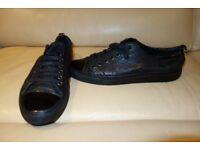 Men's Black Leather shoes by Neil Barrett size 11