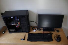 Full Desktop PC for gaming, 3d, video editing workstation. Computer + display, keyboard, etc.