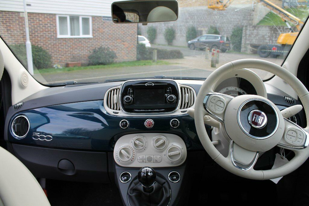fiat 500 lounge start stop epic blue 1600 miles low price thinkcar. Black Bedroom Furniture Sets. Home Design Ideas