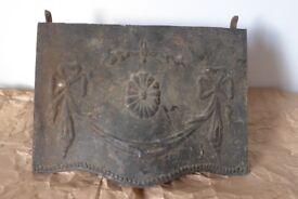 Architectural salvage: Vintage / Antique Art Nouveau Cast-Iron Fireplace / Fire Place Hood.