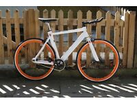 Special Offer Aluminium Alloy Frame Single speed road bike fixed gear racing fixie bicycle v4d