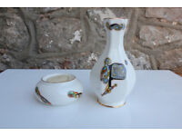 UnusualRoyal Rara Irish Pottery Vase and Candle Holder Tealight Celtic Knotwork