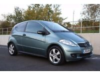 2005 Mercedes-Benz A Class 1.7 A170 Elegance SE CVT 3dr AUTOMATIC, LOW MILEAGE, PX WELCOME, WARRANTY