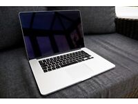 "MacBook Pro Retina 15.4"" 2.3GHz Quad-core i7 512SSD/16GB RAM with Creative Suite"