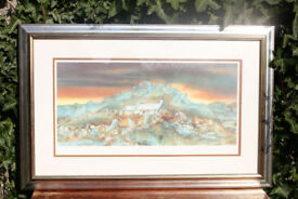 Large Framed Signed Limited Edition Print Rock Cottage I by Gillian McDonald Picture Art