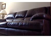 2 Good quality leather sofas