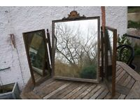Vintage tri fold dressing table mirror unusual