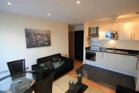 Stunning one bedroom apartment in Canary Wharf with modern kitchen and 24 hour concierge