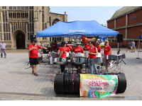 Norfolk based steel pan band for hire, Parties, weddings, fetes etc. Very competitive rates