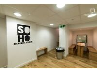 Vocal recording in central london studio
