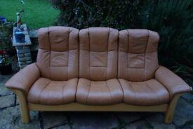 Stressless Windsor High Back 3 Seater Sofa Batick Range