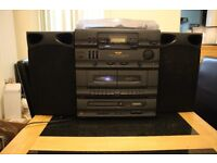 Bush Hi-Fi system with record player, CD's, and tape