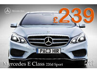 Mercedes E Class SPORT diesel - PCO Hire -UBER HIRE Rent for Executive chauffeur UBER E220d