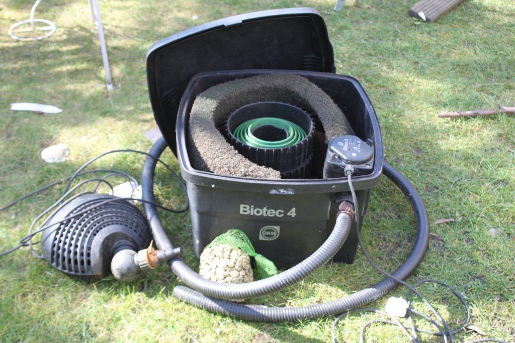 Biotec 4 Bitram 9 Pond Filter And Aquamax 3500 Pond Pump