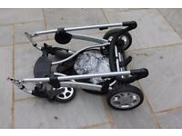 Mamas and Papas Sola pushchair and carry cot with raincovers