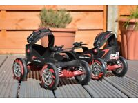 Skorpion Quadline outdoor roller skates can be worn with any shoes, fits sizes 7-11uk