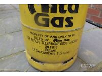 For sale Full 13kg Alta butane gas bottle