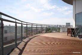TEN MINS TO BOW RD STATION STUNNING PENTHOUSE W/ TERRACE TWO BED APARTMENT TO RENT -CALL TO VIEW!