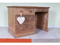 DELIVERY OPTIONS - OLD RUSTIC PINE WRITING DESK SHABBY CHIC WAXED