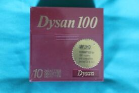 Box of 10 MF2HD Dysan 3.5 inch Floppy disks Unopened (7 boxes available)