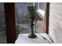 Tiffany style Table Lamp with Petal Shade.