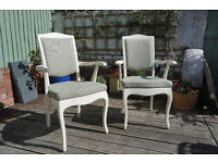 Pair of Shabby Chic Chairs