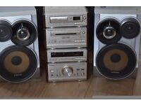 TECHNICS 5 CD CHANGER/CASSETTE/RADIO AUX IN WITH SAMSUNG SPEAKERS