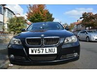 BMW 318D 3 Series Black 105,000 Genuine Mileage Almost Full Service History 5 Total Owners. New MOT