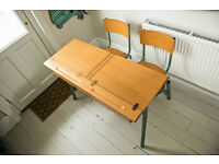 Vintage twin school desks