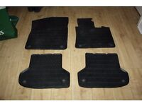 Set of genuine OEM Audi A3 rubber car mats, pre 2013