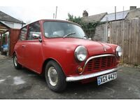 classic Austin mini 1000. long mot