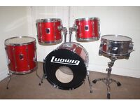 Ludwig Rocker Red 5 Piece Drum Kit - DRUMS ONLY