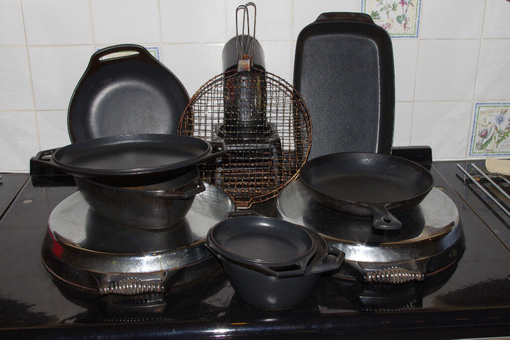 AGA CAST IRON COOKWARE - £65 the set or as priced individually
