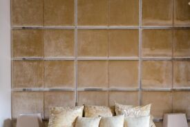 Cream/Gold Wall covering - Quick Sale
