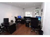 OFFICE FOR RENT IN PRIME CHISLEHURST LOCATION DESK & CHAIRS INCLUDED £12K P.A