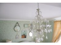 Laura Ashley Shamley Off White Compact Ceiling Chandelier