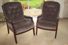 2 Cintique Armchairs excellant condition £40 each or £70 the two