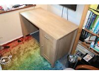 Laminate tan coloured desk