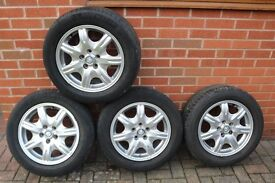 Four 16 inch alloy wheels