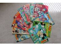 Walt Disney comics magazines Le Journal de Mickey from the Fifties Collectible French edition