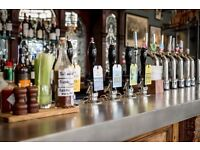 Bar & waiting staff immediate start £7.20 - £8 hour + service - Camden / Kentish Town