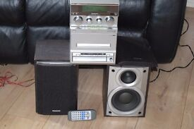 PANASONIC HIFI CD/CASSETTE/RADIO/AUX IN/REMOTE 80W CAN BE SEEN WORKING