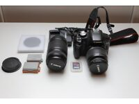 Canon EOS 500D Camera with 18-55 mm lens plus Canon EFS 55-250 mm lens