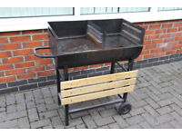 Grill King Jumbo Half Drum BBQ from B&Q for sale