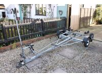 Snipe Boat trailer and combined launching trolley.