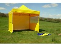 3x3 PROFESSIONAL POP UP GAZEBO COMMERCIAL MARQUEE STALL 4 SIDES DOOR WINDOWS MADE BYLPTENTS