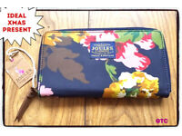 Joules Floral Zip Fastening Purse