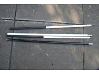 Two - Titan-ium Carp Fishing Poles (4 sections)