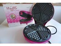 Gourmet Gadgetry Pink Waffle Maker | AS NEW